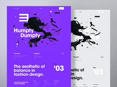 Fashion Details Page - Humpty Dumpty web ux ui typography responsive glitch fashion desktop design campaign app