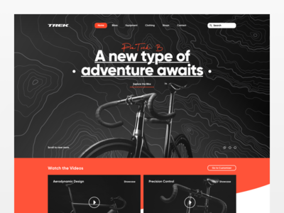 Trek Campaign Art Direction adventure sport campaign ui ux desktop art direction cycle bicycle trek