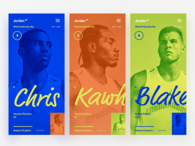 Colour me timbers. cards typography bright overlay design sport colours ui campaign app mobile