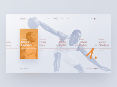 Desktop Art Direction design sketch art direction type typography jordan campaign slider ui web sport basketball desktop