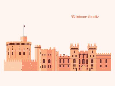 Windsor Castle illustration windsor england castle