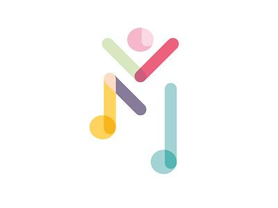 Musik & Mensch music therapy music logo design logo