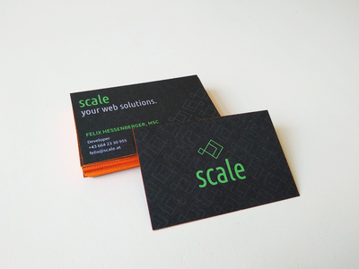 scale business card logo design