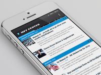 MFF Center app - List view