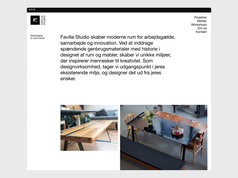 Favila Studio –  01 clean nordic scandinavian ui design