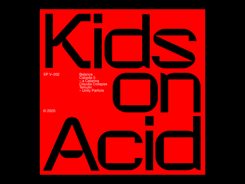 Kids on acid – Custom type exploration techno typography typeface logo minimal branding clean design