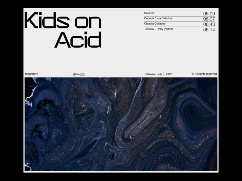 Kids on acid – Exploration techno minimal clean design