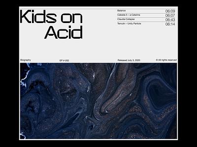 Kids on acid – Exploration techno minimal clean design