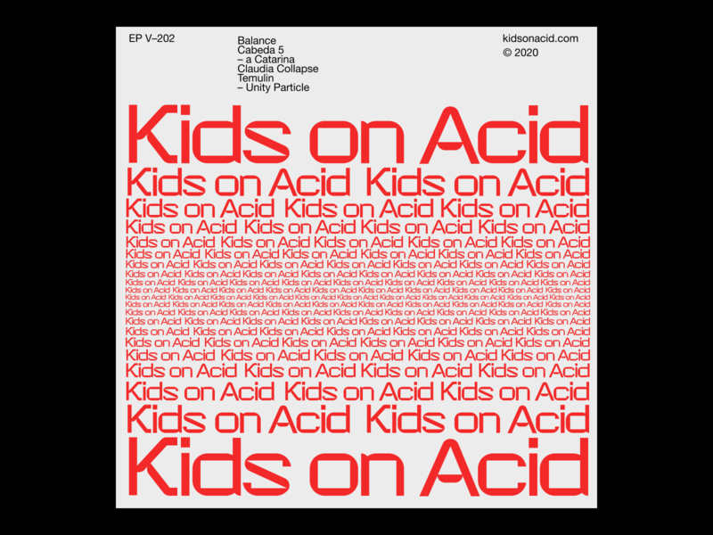 Kids on acid – 02 techno minimal typographic typogaphy clean
