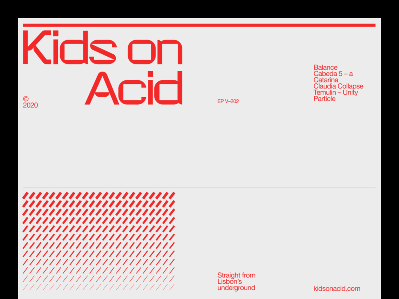 kids on acid – 04 typography techno minimal branding clean