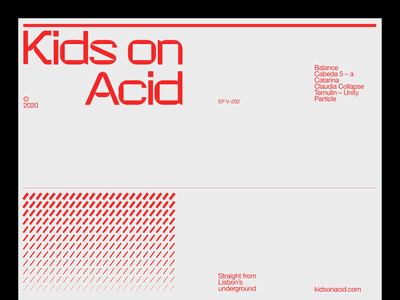 kids on acid – 04 typography techno minimal branding clean
