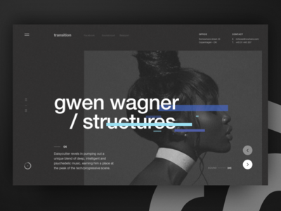 / Structure Display - 01 swiss grid nocturnal minimal minimalism design techno music pattern dark ui