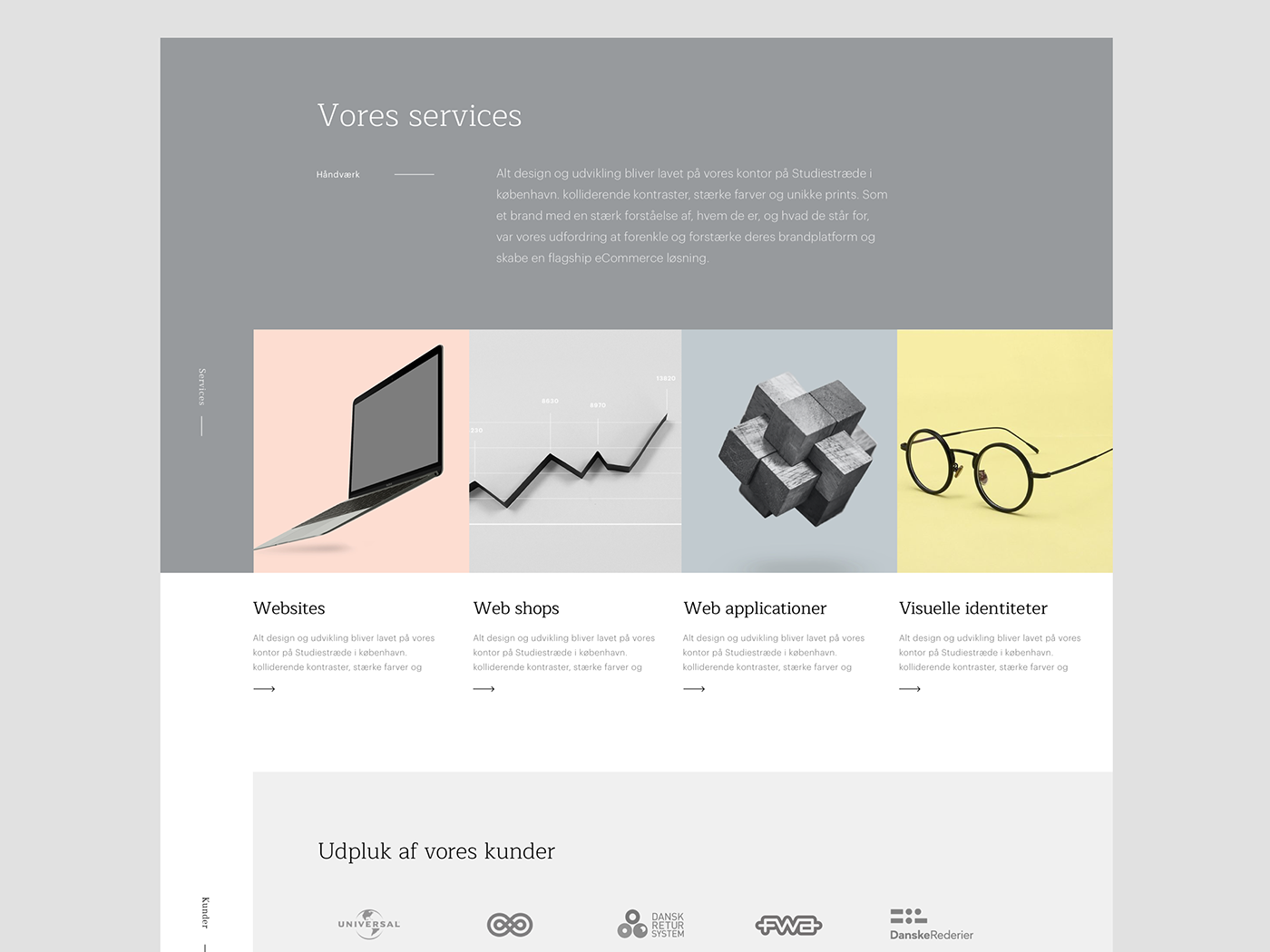 Konform - webdesign clean simple branding ui interface design