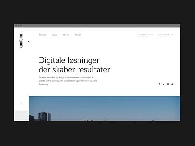 Konform website animations effects load agency branding motion ui ui web design web scandinavian clean webdesign transitions animation design