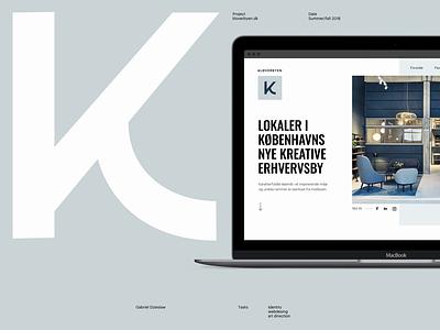 Kb Montage after effects animation clean space office room hotel business copenhagen danish style scandinavian nordic website ux ui design