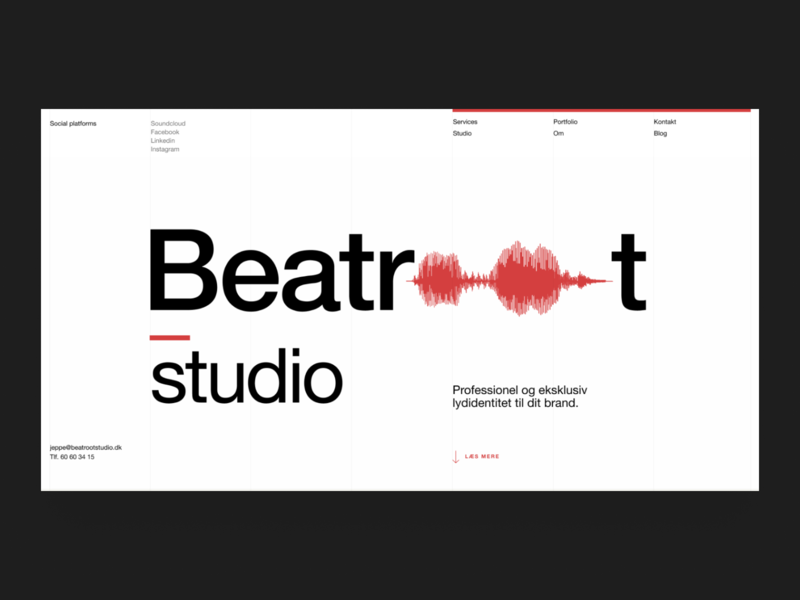 Beatroot Studio modernism modern minimal sound music branding ui logo scandinavian clean design