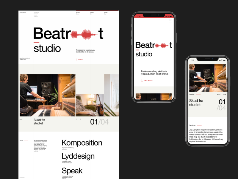 Beatroot Studio minimal studio beatles sound modernism clean scandinavian nordic uidesign ux  ui product design branding webdesign ui design