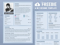 🤘 Freebie — PSD Resume Template