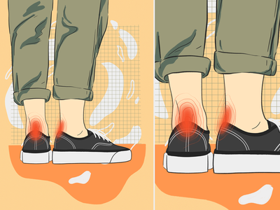 new shoes summer warm procreate hipster pain vans shoes illustration