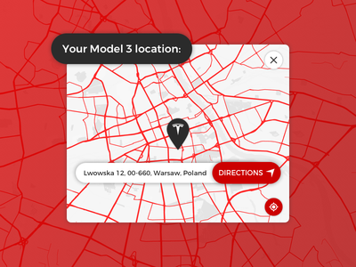 Location Tracker - Daily UI 020 maps directions tracker location sketch daily ui dailyui tesla