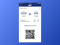 Boarding Pass - Daily UI 024