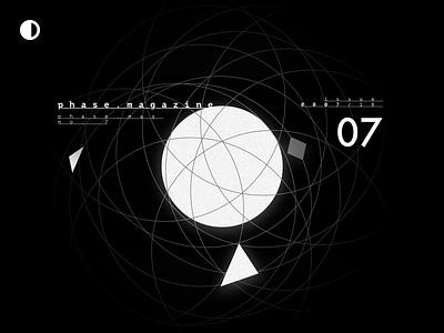 Phase Magazine – { Stronger Together } white black black  white shapes ux ui phase magazine digital design