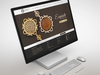 Jewelry showcase eCommerce design