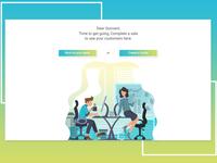 Illustration design for web portal flow design