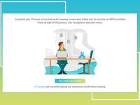 Illustration design for web portal flow design-2