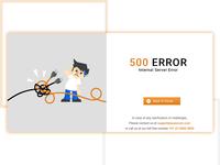 500 internal server error page design