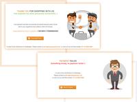 Success Failer page design