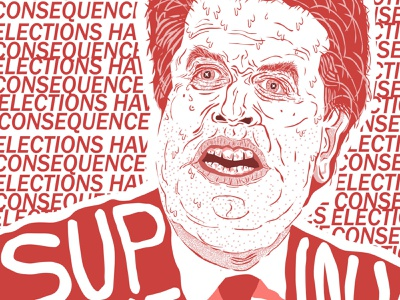 The Ugliness of Weak, Boring Men vote manbaby illustration
