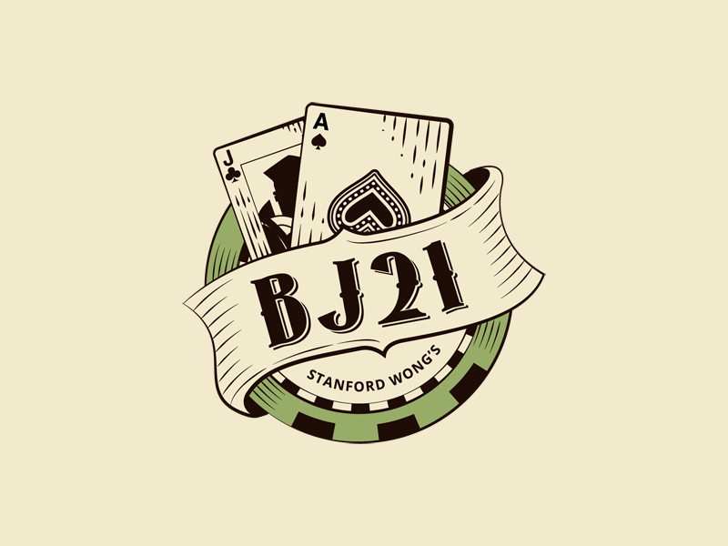 BackJack21 Logo retro vintage badge logodesign logo poker casino jack ace bj21 bj blackjack