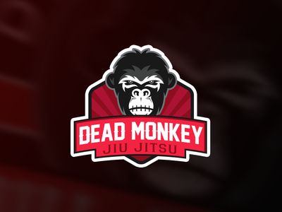 Jiu Jitsu Logo badge symbol logo chimpanzees jujutsu gorilla monkey martial art judo jiu jitsu