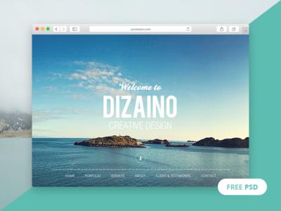 DIZAINO - One Page Free PSD Template
