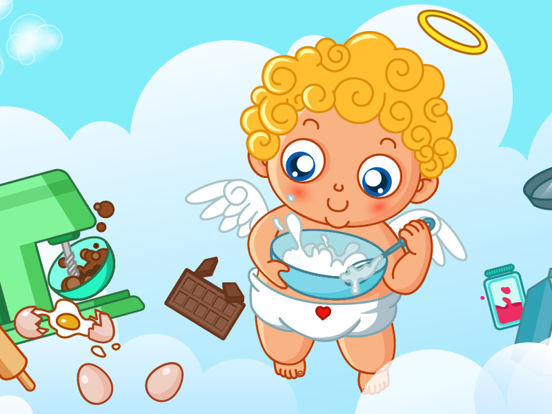 Free Valentine Cupid Facebook, Twitter Covers junoteam freebies facebook cover twitter cover love kid baby bakery chocolate angle cupid valentine