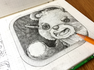 RESCUE WAR ONLINE GAME warrior bear teddy ux ui sketching sketch app android ios icon junoteam