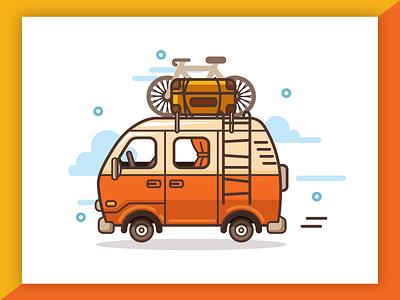 Van Life Project logo wordpress web design ux ui app android ios icon junoteam van logo travel logo logo