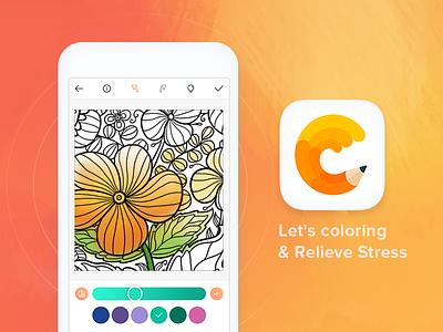 ColorMatter application junoteam ux design ui design app design ux ui color therapy color app drawing paint color colormatter