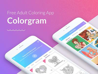 Colorgram application colorgram color paint drawing color app color therapy ui ux app design ui design ux design junoteam