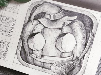 Halloween app icon sketch pumpkin halloween ghost jack lantern latern draw scary sketch junoteam free freebie free psd