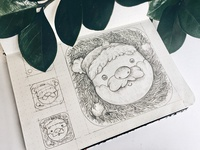 Christmas app icon skech