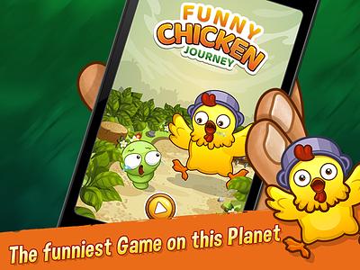 FUNNY CHICKEN JOURNEY junoteam junoapps game adventure journey funny chicken chicken ios gamestudio