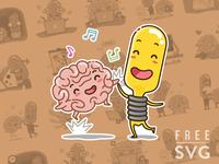 Free IDEA and BRAIN sticker set
