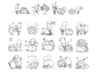 Free IDEA and BRAIN emoji sketching