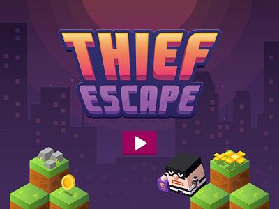 Thief Escape game design fun cartoon game studio ios app icon ui design thief escape game design junoteam