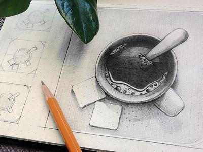Coffee app icon sketching junoteam free icon free app icon ios coffee icon coffee cup hot coffee icon draw sketch freebie