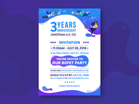 3 Years Anniversary Invitation