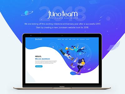 Junoteam Website 2018 animation web illustration website design company game studio design studio new website junoteam