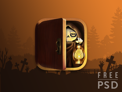 Free PSD Halloween Death app icon